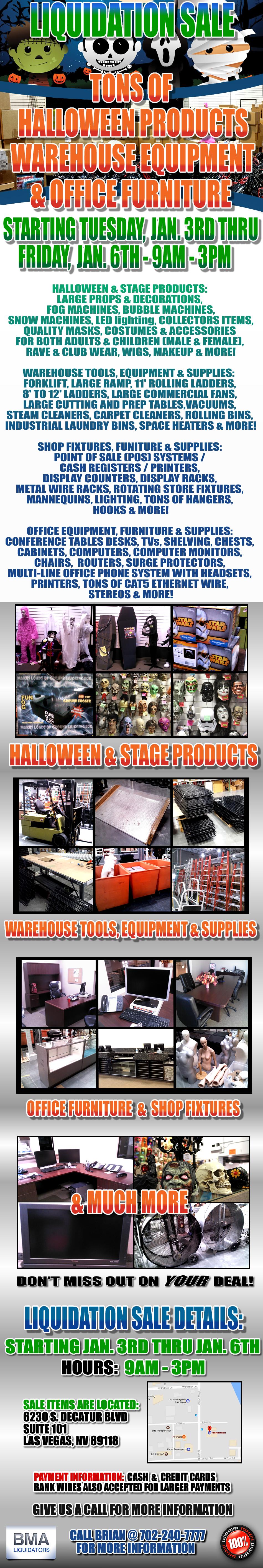 Bma Liquidators Giant Halloween Company Goes Out Of